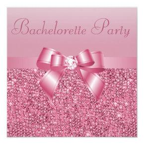 Pink Sequins, Bow & Diamond