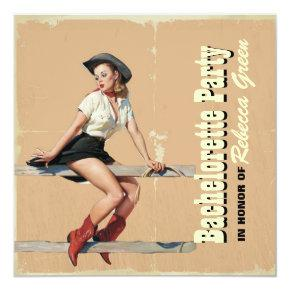 retro cowgirl western country