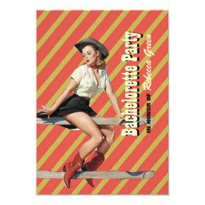 retro stripes cowgirl western