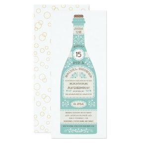 Retro Wine Bottle Bridal Shower  II