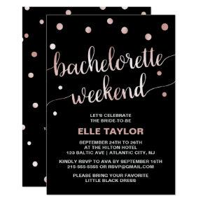 Rose Gold  Weekend Invite & Itinerary