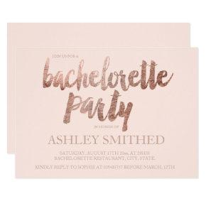 Rose gold typography blush