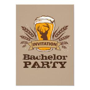 Rustic Beer Barley Stag / Bachelor Party