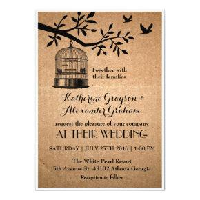 Rustic Brown Paper Bird Cage Wedding