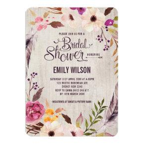 Rustic Floral Bridal Shower  Boho Party