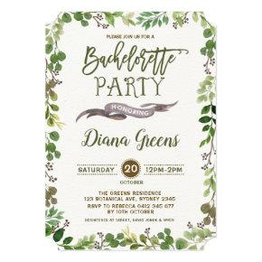 Rustic Forest Greenery  Invite