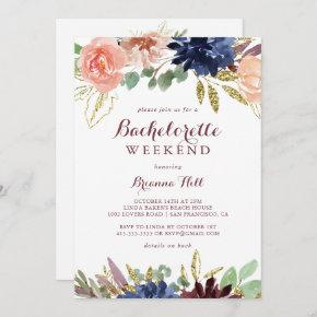 Rustic Gold Leaves and Floral  Weekend