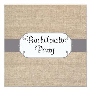 Rustic Grey and Beige Burlap