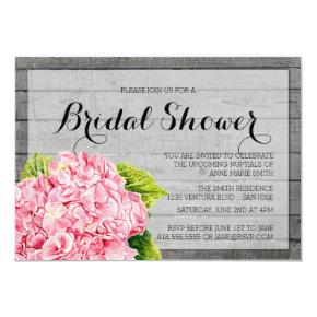 RUSTIC PINK HYDRANGEA BRIDAL SHOWER