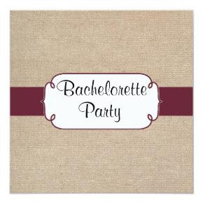 Rustic Wine and Beige Burlap