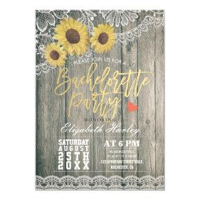 Rustic Wood Sunflowers Lace