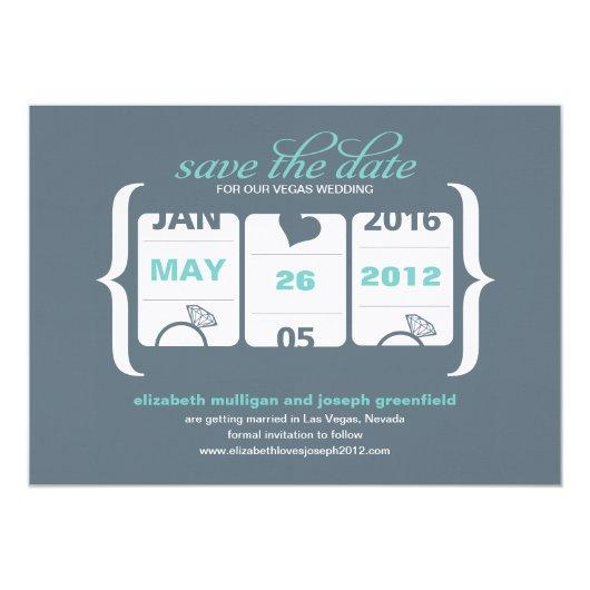 Slot Machine Save the Date - Wedding