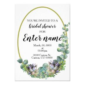 Succulent themed bridal shower