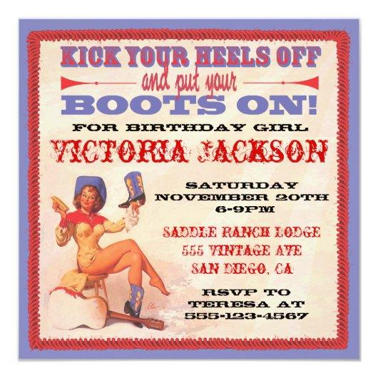 Vintage Pin Up Rockabilly Cowgirl Party