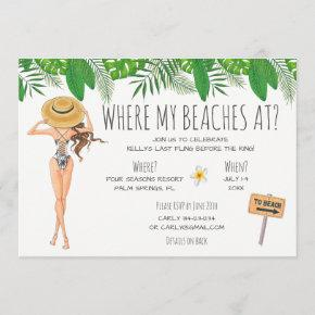 Watercolor  Beach Party