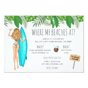 Watercolor  Surf Beach Party