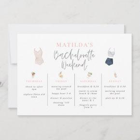 Watercolor drinks  weekend itinerary