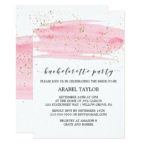 Watercolor Pink Blush & Gold