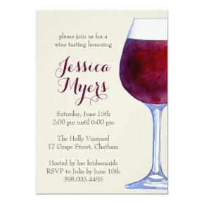 Watercolor Red Wine Party
