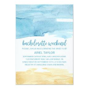 Watercolor Sand and Sea  Weekend