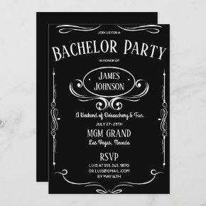 Whiskey Label Bachelor (ette) Party