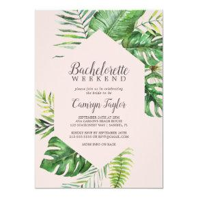 Wild Tropical Palm | Blush  Weekend